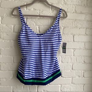 NWT Jag Tankini Swimsuit Top New w/ Tags Large